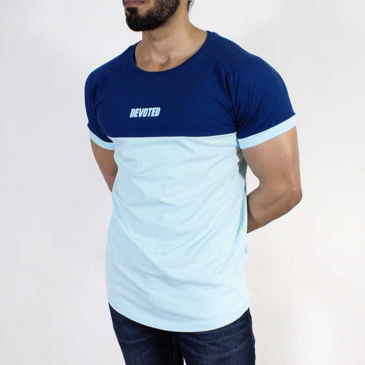Devoted Duplex Sports T-shirt - Gym wear & Sports clothing - Navy Blue Front