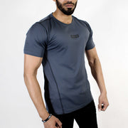 Devoted Dri-Stretch Pro Sports T-shirt - Gym wear & Sports clothing - Steel Grey Side