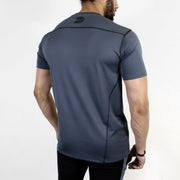 Devoted Dri-Stretch Pro Sports T-shirt - Gym wear & Sports clothing - Steel Grey Back