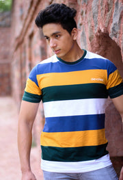 Devoted Gym Wear & Sports clothing - Color Block Tee - Yellow - @ShauryaBisht