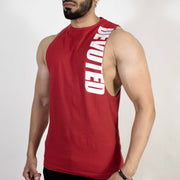 Devoted Allure Cut off - Gym wear & Sports clothing - Red Front