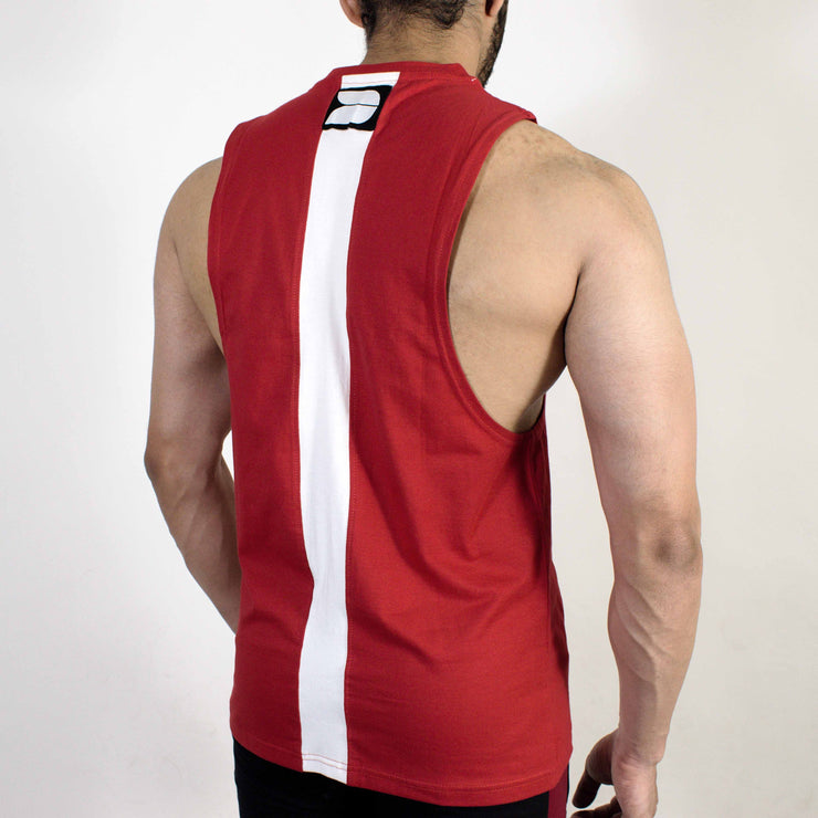 Devoted Allure Cut off - Gym wear & Sports clothing - Red Back