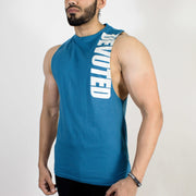 Devoted Allure Cut off - Gym wear & Sports clothing - Teal Blue Front