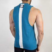 Devoted Allure Cut off - Gym wear & Sports clothing - Teal Blue Back