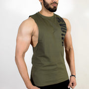 Devoted Allure Cut off - Gym wear & Sports clothing - Olive Green Side