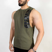 Devoted Allure Cut off - Gym wear & Sports clothing - Olive Green Front