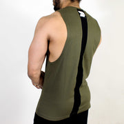 Devoted Allure Cut off - Gym wear & Sports clothing - Olive Green Back