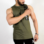 Devoted Allure Cut off - Gym wear & Sports clothing - Olive Green Front Side