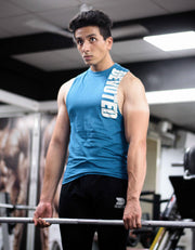 Allure Cut-offs - Devoted Gym wear & Sports clothing - Teal Blue - Shaurya Bisht @ShauryaBisht