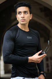Dri-Stretch Pro Full Sleeves T-shirt - Black Reflective - Devoted Gym Wear & Sports Clothing - Shaurya Bisht @ShauryaBisht