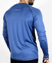 Dri-Stretch Pro Full Sleeves T-shirt - Reflective Blue - Devoted Gym Wear & Sports Clothing - Back