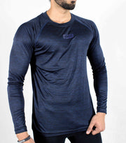 Dri-Stretch Pro Full Sleeves T-shirt - Dark Blue - Devoted Gym Wear & Sports Clothing - Side