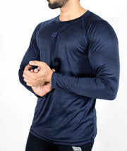 Dri-Stretch Pro Full Sleeves T-shirt - Dark Blue - Devoted Gym Wear & Sports Clothing - Front