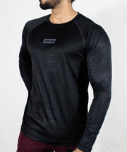 Dri-Stretch Pro Full Sleeves T-shirt - Black Reflective - Devoted Gym Wear & Sports Clothing - Side