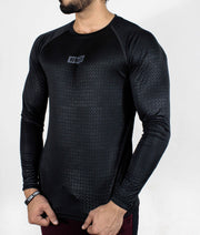 Dri-Stretch Pro Full Sleeves T-shirt - Black Reflective - Devoted Gym Wear & Sports Clothing - Front