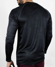 Dri-Stretch Pro Full Sleeves T-shirt - Black Reflective - Devoted Gym Wear & Sports Clothing - Back