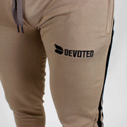 Devoted Dri-Stretch Jogger V2.0 - Gym wear & Sports clothing - Shaurya Bisht (@ShauryaBisht) - Khaki Closeup