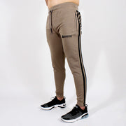 Devoted Dri-Stretch Jogger V2.0 - Gym wear & Sports clothing - Shaurya Bisht (@ShauryaBisht) - Khaki Front