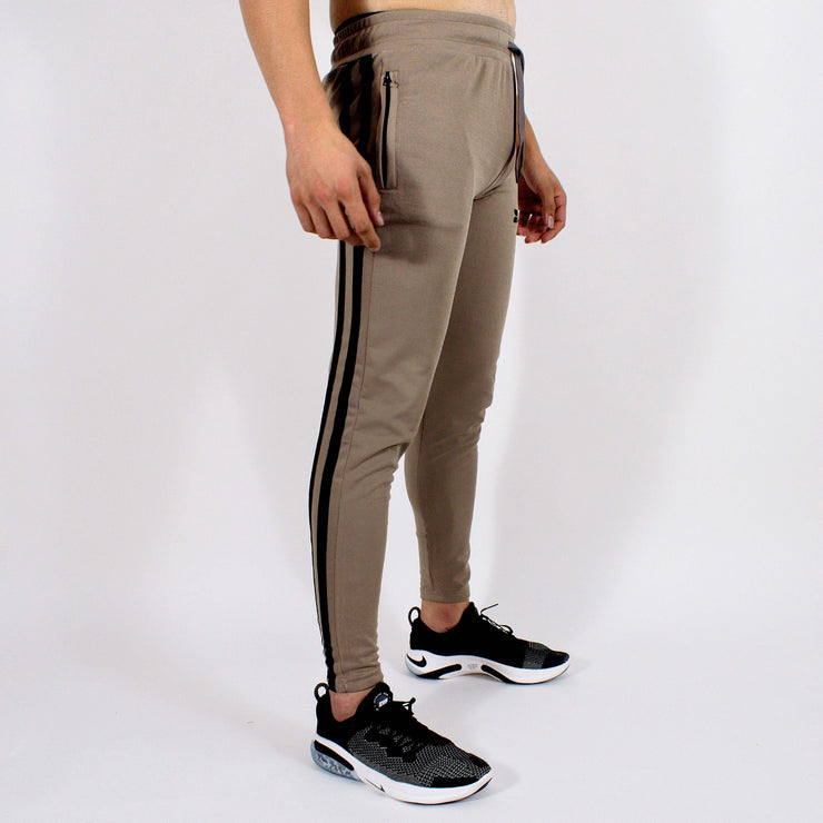 Devoted Dri-Stretch Jogger V2.0 - Gym wear & Sports clothing - Shaurya Bisht (@ShauryaBisht) - Khaki Side