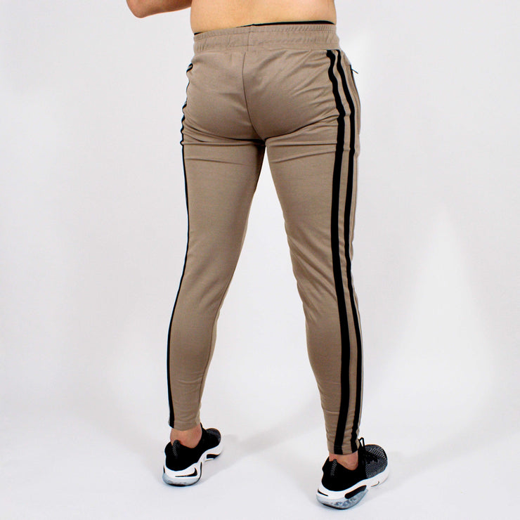 Devoted Dri-Stretch Jogger V2.0 - Gym wear & Sports clothing - Shaurya Bisht (@ShauryaBisht) - Khaki Back