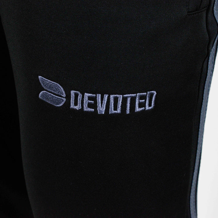 Devoted Dri-Stretch Jogger V2.0 - Gym wear & Sports clothing - Shaurya Bisht (@ShauryaBisht) - Black Closeup