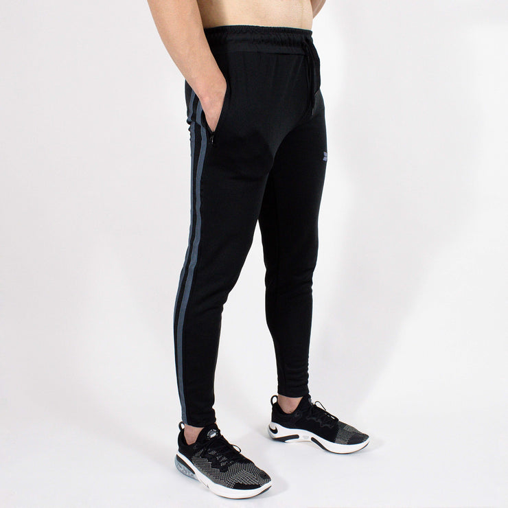 Devoted Dri-Stretch Jogger V2.0 - Gym wear & Sports clothing - Shaurya Bisht (@ShauryaBisht) - Black Side