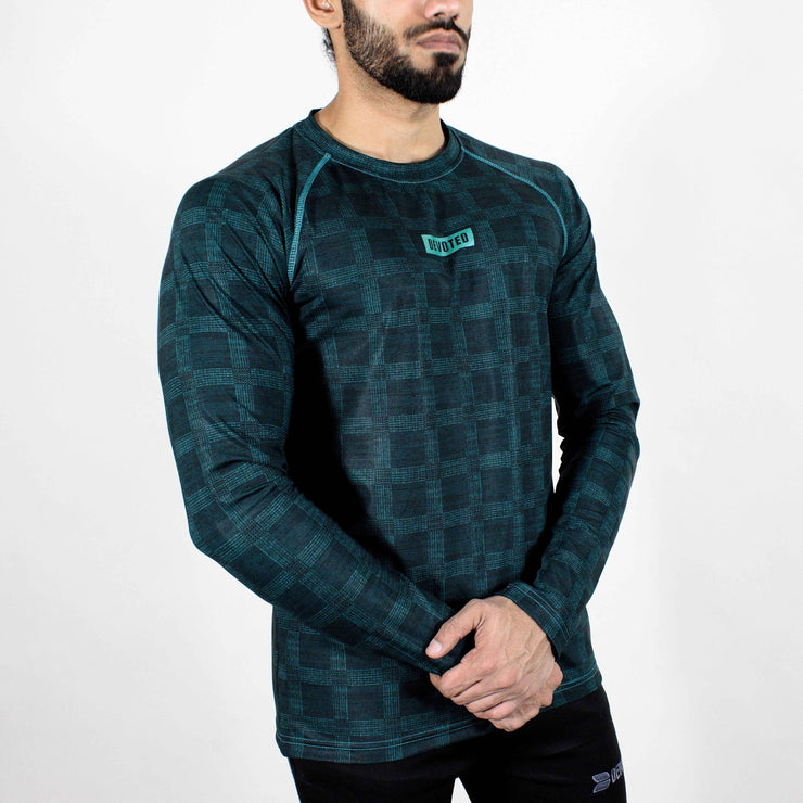 Dri-Stretch Pro Full Sleeves T-shirt - Teal - Devoted Gym Wear & Sports Clothing - Front Side