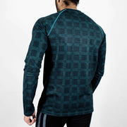 Dri-Stretch Pro Full Sleeves T-shirt - Teal - Devoted Gym Wear & Sports Clothing - Back