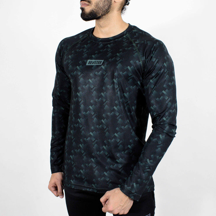 Dri-Stretch Pro Full Sleeves T-shirt - Black GreeDri-Stretch Pro Full Sleeves T-shirt - Mud Green - Devoted Gym Wear & Sports Clothing - Frontn - Devoted Gym Wear & Sports Clothing - Front