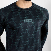 Dri-Stretch Pro Full Sleeves T-shirt - Mud Green - Devoted Gym Wear & Sports Clothing - Close up