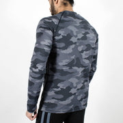 Dri-Stretch Pro Full Sleeves T-shirt - Grey Camo 2 - Devoted Gym Wear & Sports Clothing - Back