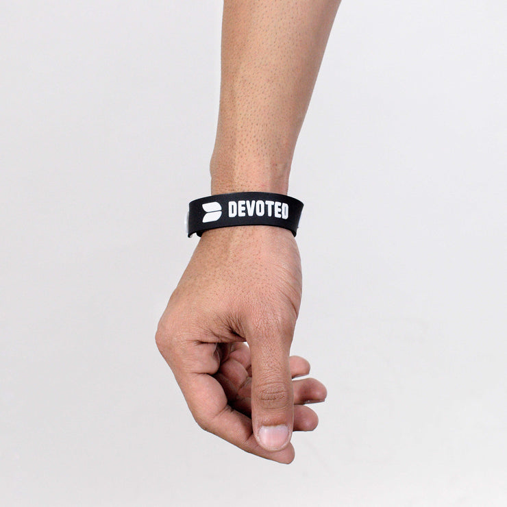 Devoted wear Wrist Band | Silicone band | Live Your Workout | Gym Wear & SportsWear - Black