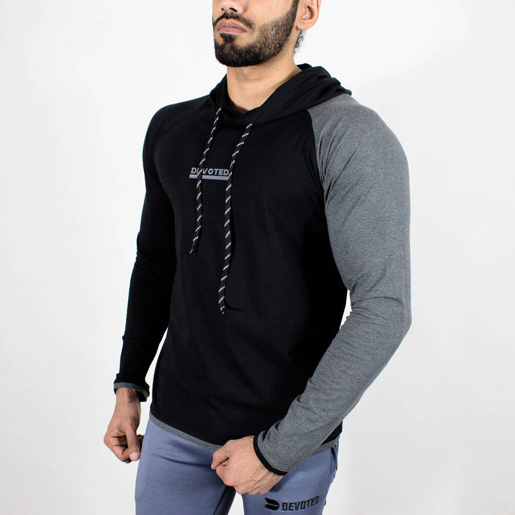 Devoted Hoodie Tshirt - Finest quality cloth ever! - Gym wear & sports wear - Jet Black - Side 2