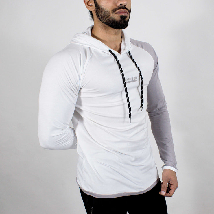Devoted Hoodie Tshirt - Finest quality cloth ever! - Gym wear & sports wear - Ghost White - Side 2