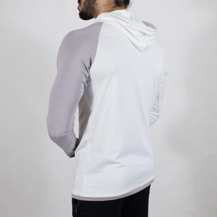 Devoted Hoodie Tshirt - Finest quality cloth ever! - Gym wear & sports wear - Ghost White - Back