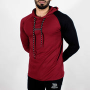 Devoted Hoodie Tshirt - Finest quality cloth ever! - Gym wear & sports wear - Maroon - Side 2