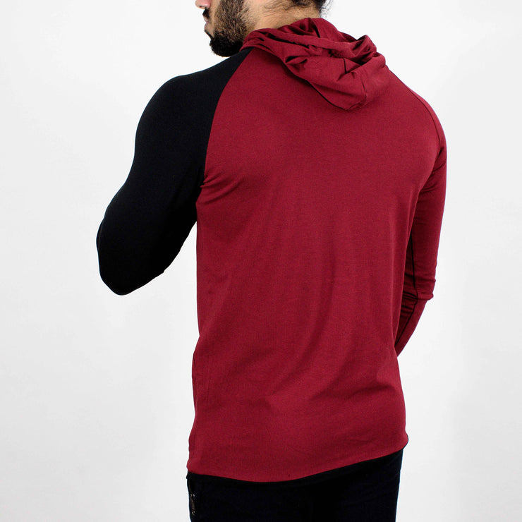 Devoted Hoodie Tshirt - Finest quality cloth ever! - Gym wear & sports wear - Maroon - Back