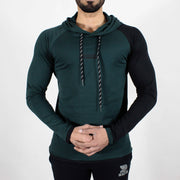 Devoted Hoodie Tshirt - Finest quality cloth ever! - Gym wear & sports wear - Hunter Green - Back