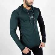 Devoted Hoodie Tshirt - Finest quality cloth ever! - Gym wear & sports wear - Hunter Green - Front