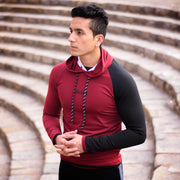 Devoted Hoodie Tshirt - Finest quality cloth ever! - Gym wear & sports wear - Maroon - Shaurya Bisht (@ShauryaBisht))