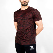 Dri-Stretch Pro Half Sleeves T-shirt - Black Red Camo - Devoted Gym Wear & Sports Clothing - Front