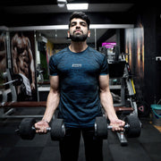 Devoted Gym Wear & Sports clothing - Dri-Stretch Pro Half Sleeve - Blue - Vibhu Jain (@Vibhu.Jain)