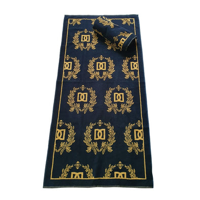 NEW !  -  DELUXE WOVEN GOLD CREST BEACH TOWEL