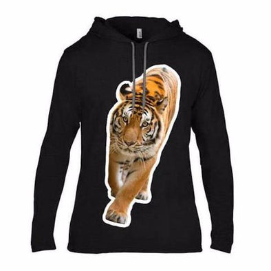BLACK LIGHTWEIGHT TIGER HOOD