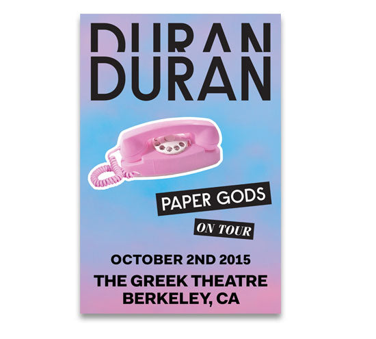 POSTER - GREEK THEATRE OCT 2nd
