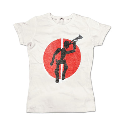 WHITE NOTORIOUS VINTAGE DESIGN T (Girls Fit )