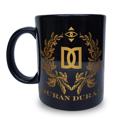 NEW - BLACK GOLD CREST  MUG