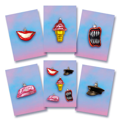 SET OF 6 PAPER GODS GREETINGS CARDS