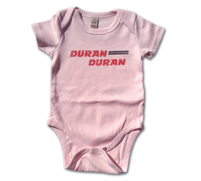 Retro DD logo Baby Grow (Soft Pink)