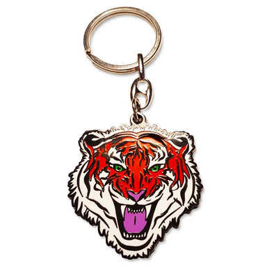 High Definition Enamel Tiger Keyring